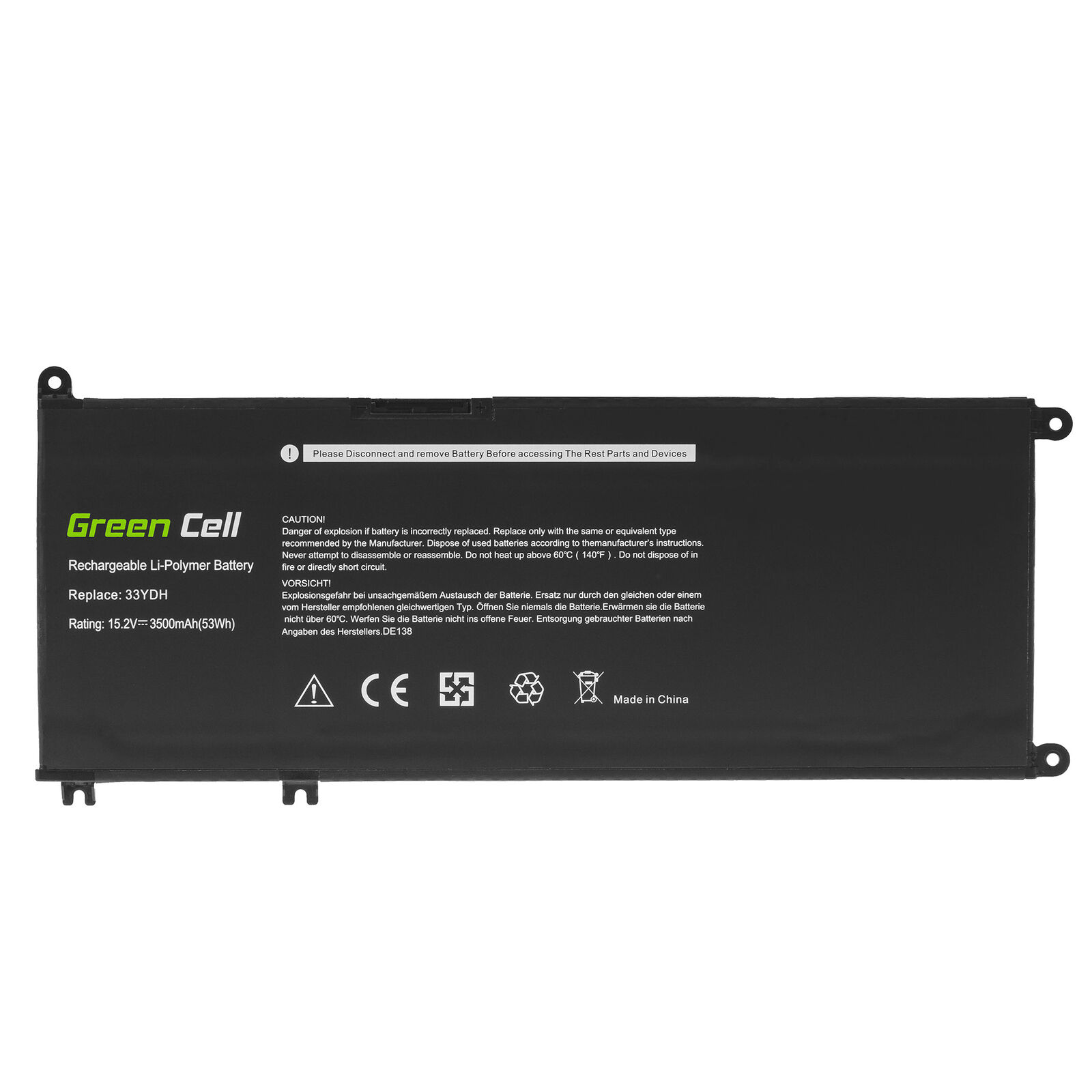 Dell Inspiron 7570 7573 7577 7586 7773 7778 7779 7786 99NF2 33YDH W7NKD compatible battery