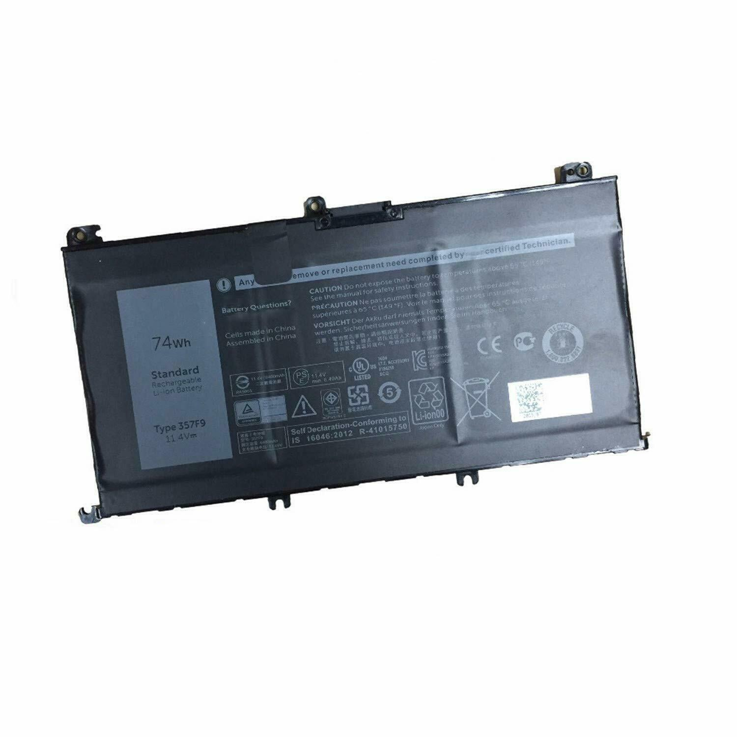 357F9 71JF4 Dell Inspiron 15 7559 15 7000 7566 7567 P65F compatible battery